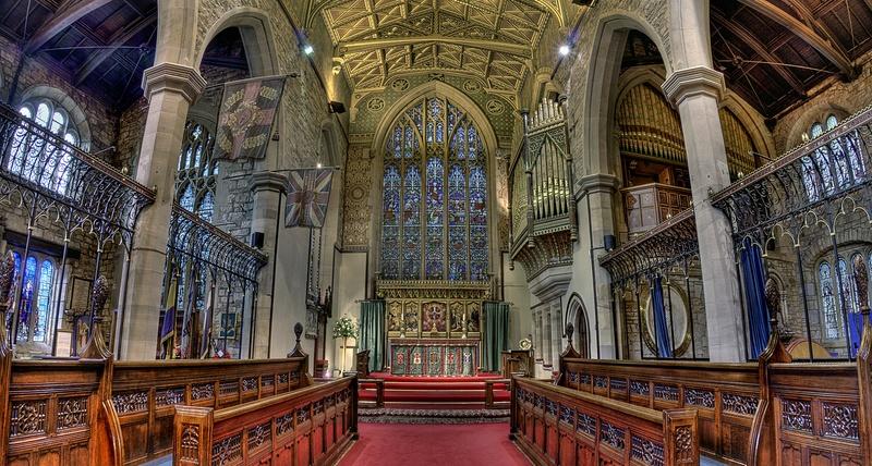 St Peter's, Burnley : Choir Pews & Altar