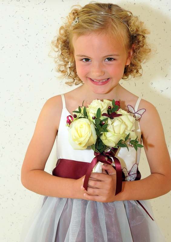 Bridesmaid with Flower Posy